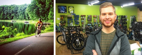 Hometown Bicycles sales associate Tim Bart