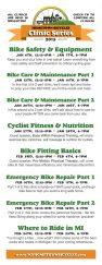 Hometown Bicycles 2015 Bike Clinic Schedule