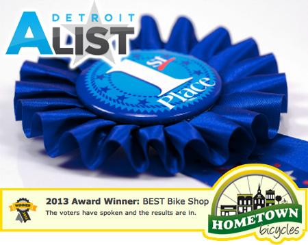 Hometown Bicycles Wins 1st Place in Detroit A-List BEST Bike Shop