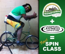 Hometown Bicycles Spin Class with Hamburg Fitness Center