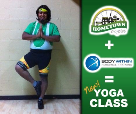 Hometown Bicycles Yoga Class with Body Within Personal Training