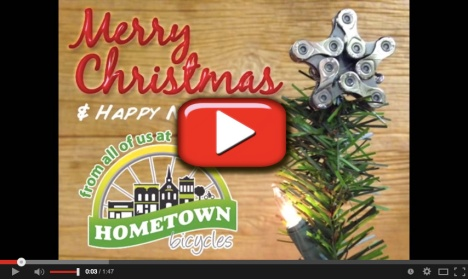 Merry Christmas and Happy New Year from the crew at Hometown Bicycles