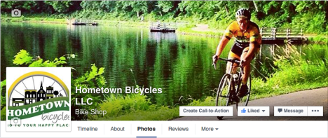 Like Hometown Bicycles on Facebook
