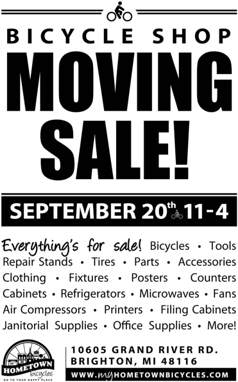 HTB 0915 Moving Sale