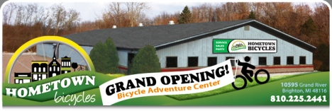 Hometown Bicycles Grand Opening in new store 10595 Grand River Rd, Brighton, 48116