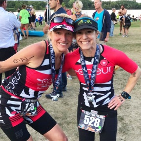Hometown Bicycles' Amy Gluck at the final race in the Island Lake T-Rex Triathlon series