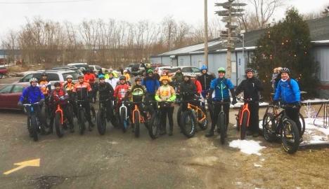 Hometown Bicycles Winter Shop Rides - Fat Bike Friendly ride